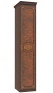 Jednodverová skriňa Elizabeth s plnými dverami a ozdobnými lištami - orech