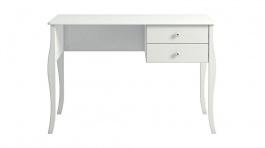 Písací stôl so zásuvkami Edmont - biely