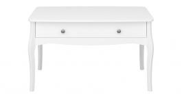 Konferenčný stolík so zásuvkou Baroko - biely