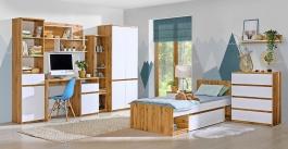 Študentská izba Liana I - bílá/dub wotan