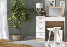 Pracovné / toaletný stolík CHARM dub sonoma / biela