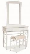 Toaletný stolík 1102 so zrkadlom biela / biela