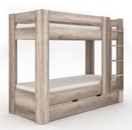 Detská poschodová posteľ REA Pikachu pravá - dub canyon