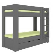 Detská poschodová posteľ REA Pikachu pravá - graphite