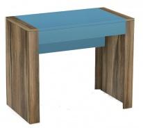 Písací stôl REA Jamie - tmavomodrý šuplík