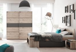 Spálňa ROMA (posteľ 160, skriňa, 2 stolíky)