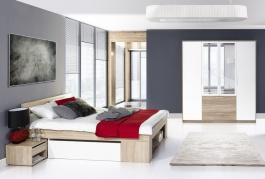 Spálňa MILO III (posteľ 160, skriňa)