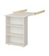 Závesný stolík Amenity - masív/biela