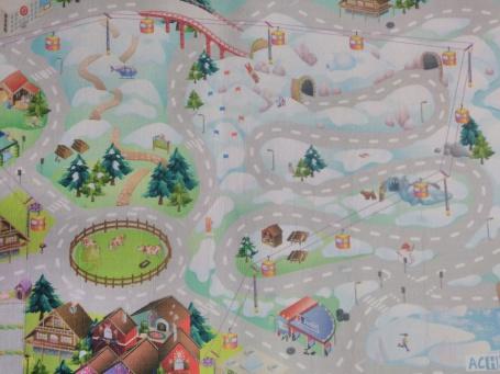 """Detský hrací koberec """"Zasnežené mesto"""""""