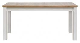 Jedálenský stôl s rozkladaním DELUXE - smrekovec sibírsky / dub