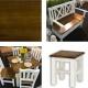 Drevená stolička / stolík SIL 21 - výber morenia