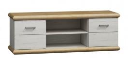 Televízny stolík KORA K11 divoký dub / biela