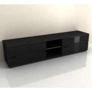 RTV stolík, čierny vysoký lesk, ADONIS AS 30