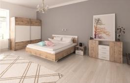 Spálňa Gabriela - dub wotan/biela