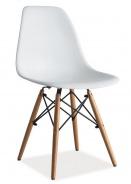 Jedálenská stolička Enzo - biela