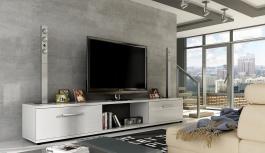 TV stolík Malton biely lesk