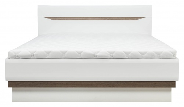 Posteľ LIONEL 180x200cm - dub sonoma truflový / biely lesk