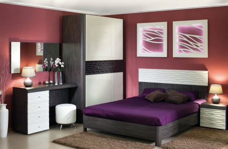 Spálňa Franchesca II - wenge/šedá/čokoláda