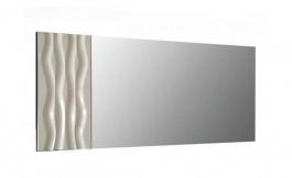 Nástenné zrkadlo Franchesca - šedá