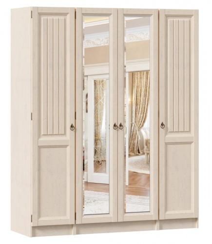 Šatníková skriňa 4-dverová so zrkadlami Annie - dub provence