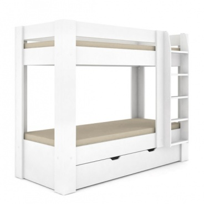 Detská poschodová posteľ REA Pikachu pravá - biela