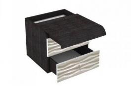 Nočný stolík s výsuvnou doskou Franchesca - wenge/šedá