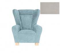 Komfortné relaxačné kreslo typu ušiak Ingrid - šedá 2746