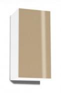 Závesná skrinka REA Rebecca 9 s lesklými dvierkami - biela