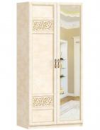 Dvojdverová skriňa do spálne Sofia s kombinovanými dverami - béžová/lento