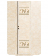 Rohová skriňa do spálne Sofia s plnými dverami - béžová/lento