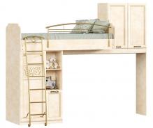 Poschodová posteľ 80x190cm s úložným priestorom Sofia - béžová/lento