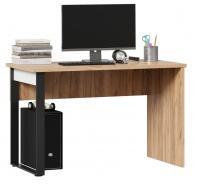 Písací stôl Trendy - dub zlatý/čierna