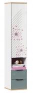 Kombinovaná skriňa Trendy - biela/ružová/sivomodrá