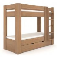 Detská poschodová posteľ REA Pikachu pravá - buk