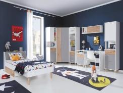 Detská izba Rasmus II - biela/sivá/dub artisan