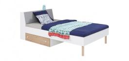 Detská posteľ Rasmus 120x200cm - biela/sivá/dub artisan