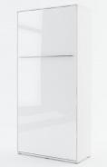 Výklopná posteľ 90 Concept PRO CP-03P biela lesk / biela mat
