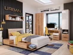 Moderná detská izba Trendy - dub zlatý/biela
