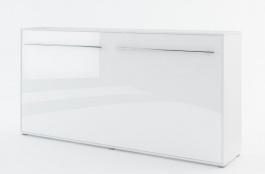 Výklopná posteľ 140 Concept PRO CP-04P biela lesk / biela mat