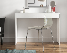 Toaletný stolík / písací stôl, biela, VIOLET
