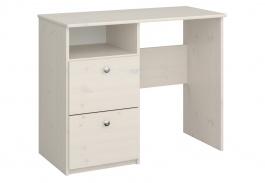 Písací stôl Amenity - masív/biela