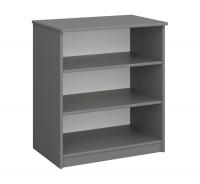 Regál nízky Amenity - šedý