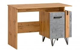 Písací stolík Dorian - betón/dub wotan