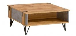 Konferenčný stolík Dorian - betón/dub wotan