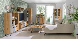 Obývacia izba Dorian IV - betón/dub wotan