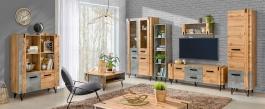 Obývacia izba Dorian I - betón/dub wotan