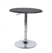 Barový stôl, otočný, s nastaviteľnou výškou, chróm / čierna, BRANY