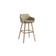 Barová stolička, béžová látka / buk, Tahira