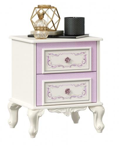 Nočný stolík Comtesa - alabaster/fialová