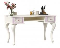 Toaletný/písací stolík Comtesa - alabaster/fialová
